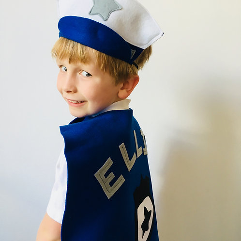 Any Size Police Costume, Personalised Police Outfit, Emergency Service Costume