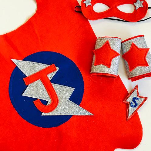 Kids Felt Superhero Flash Cape with Letter