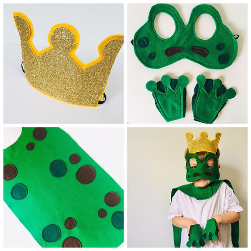 Green Frog Costume, World Book Day Frog Price Costume. Kids-Adult Sizes