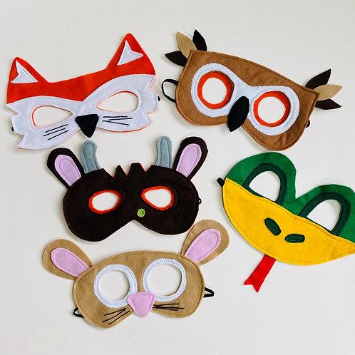 Woodland Animal Mask Set,  World Book Day Mask Set, Animal Storytelling Masks