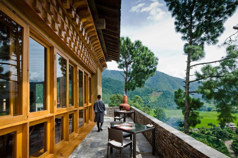 Uma Punakha - Dining -  TERRACE DINING w