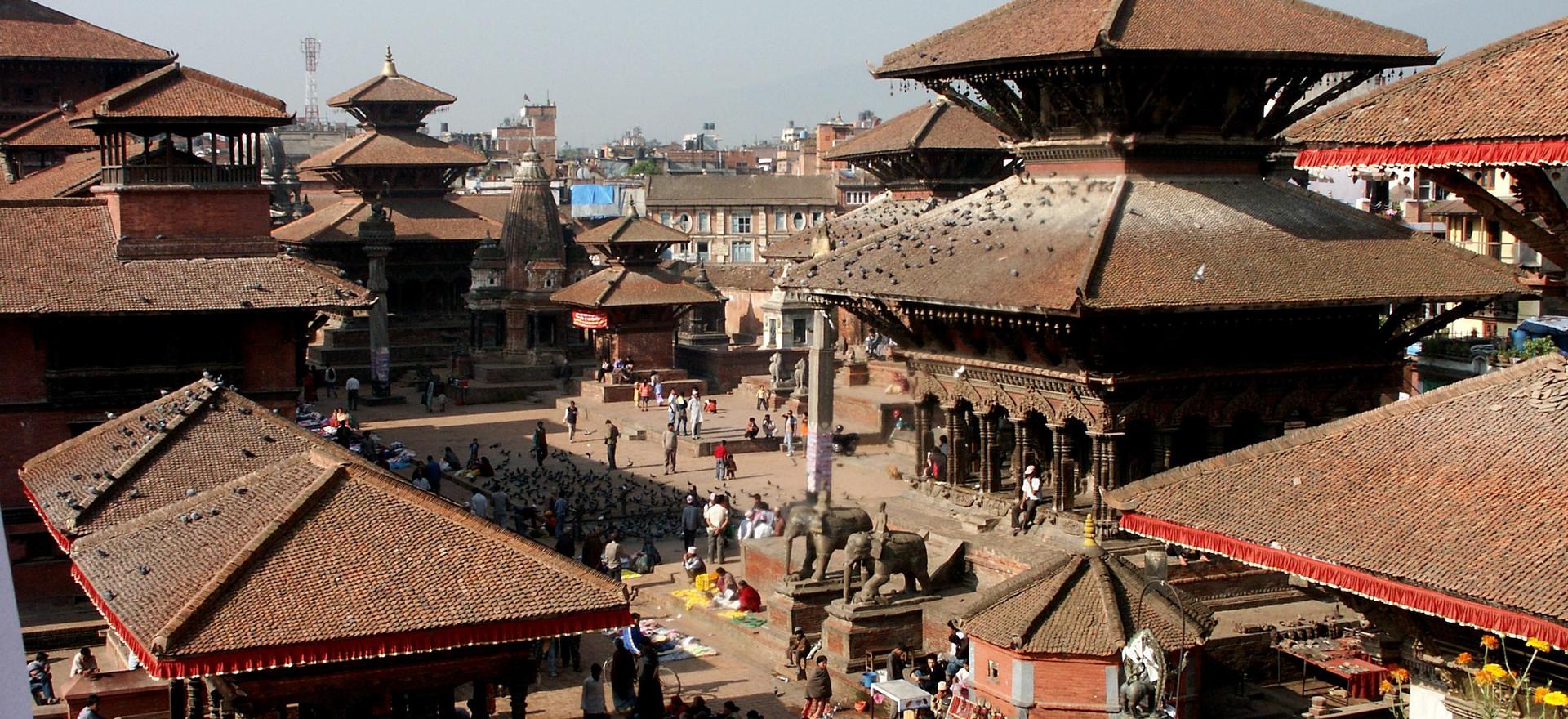 Patan Durbar Square aerial view