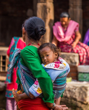 Mother and Child in Nepal while on Trek to Okhaldhunga.