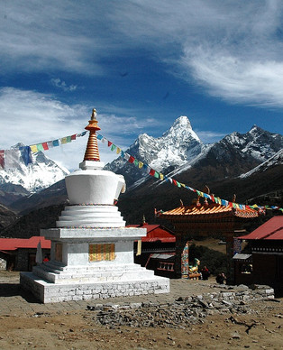 Trekking  to Everest Base Camp Tenboche.