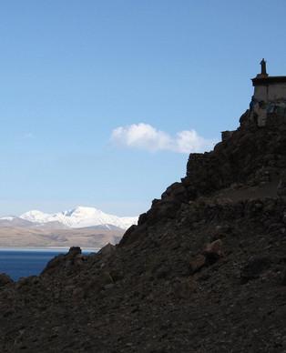 Chiu gompa and Manasarovar, Tibet.