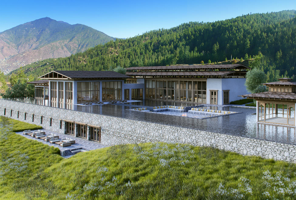 One of our hotels on our experiential tours in Bhutan