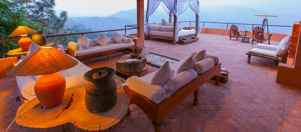 Outdoor Living Space in a Suite