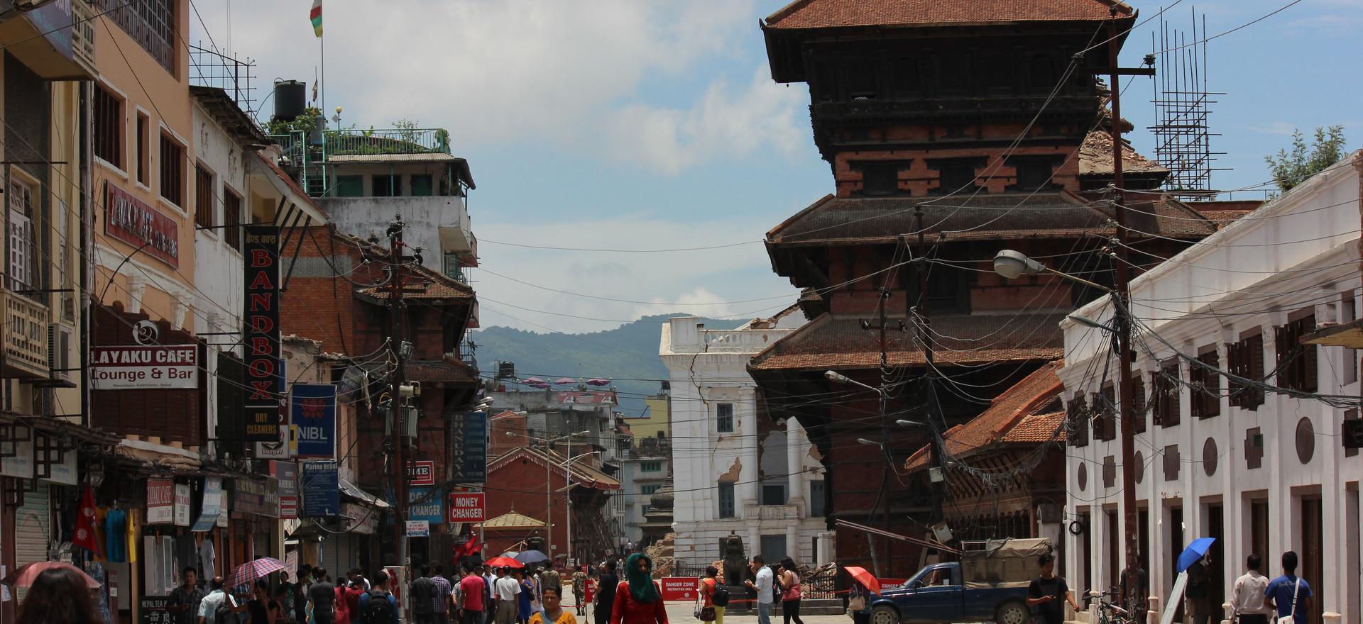 Way leading to Kathmandu Durbar Square