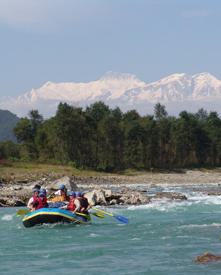White wate rafting in nepal. Scenic mountains and beautiful rivers