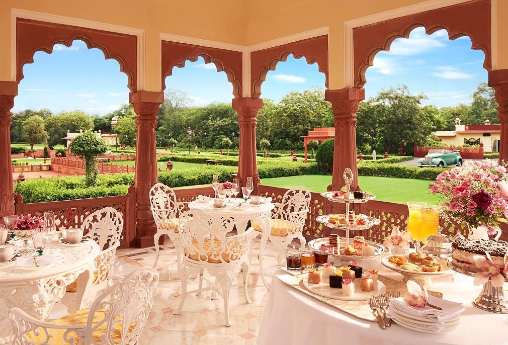 High tea at Jai Mahal Palace.