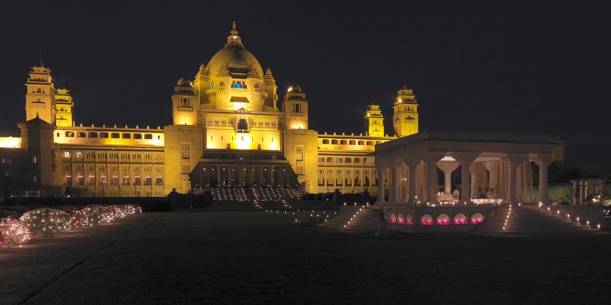 Umaid Bahwan Palace at night