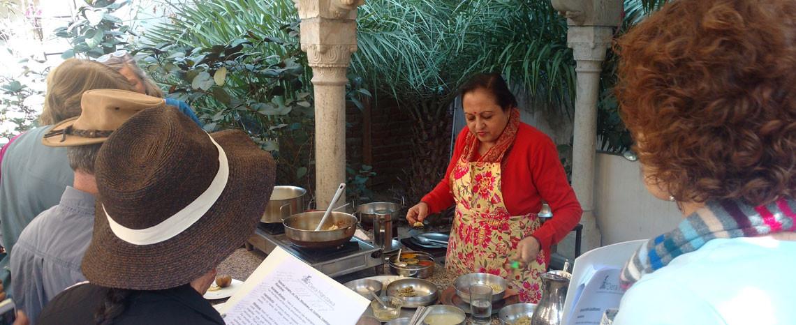 Cooking demo in Jaipur