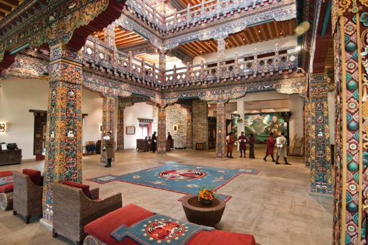 One of our experiential tour hotels in Paro, Bhutan. The Zhiwa Ling Heritage Hotel.