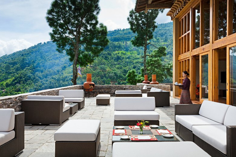 Uma Punakha - Dining -  Outdoor Terrace