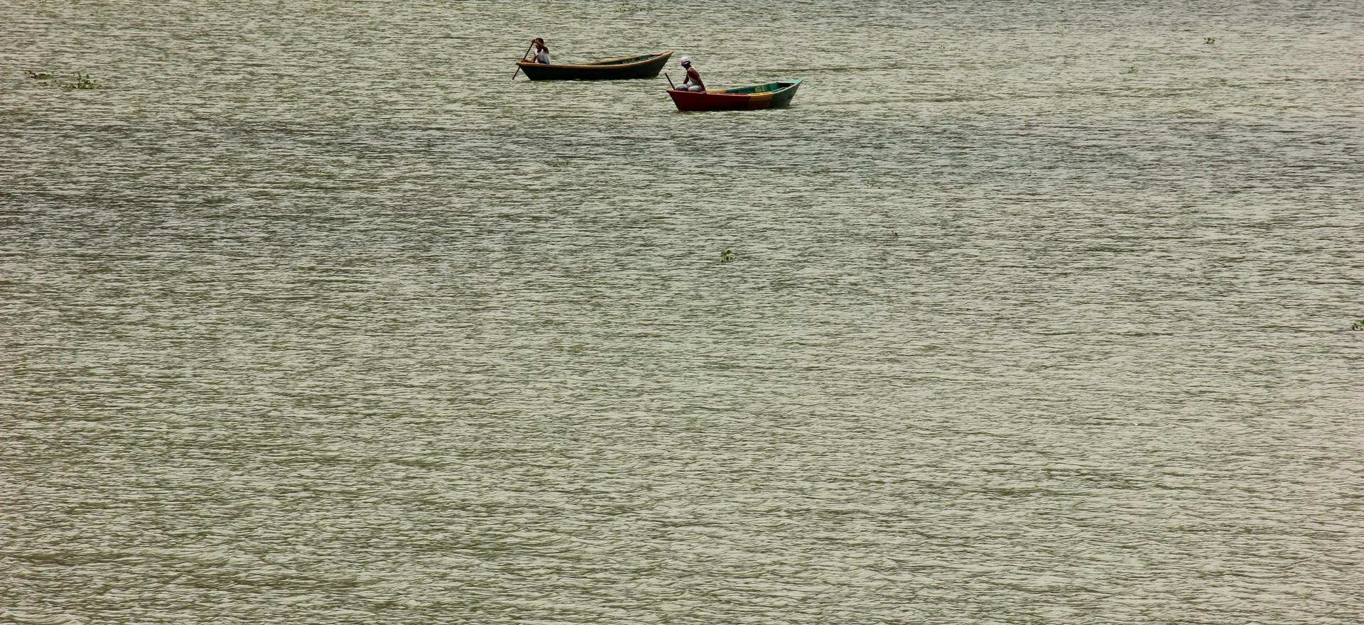 Boating at Phewa Lake.