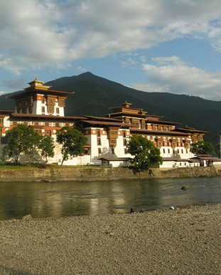 Punakha Dzong on a holiday to Bhutan.