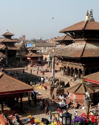 Patan Durbar Square aerial view.JPG