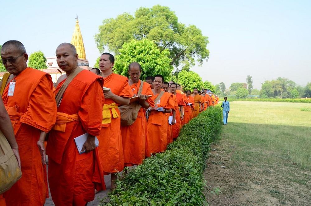 Buddhist Monks at Sarnath