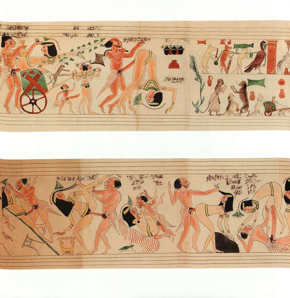 Reconstrucción digital del papiro erótico de Turín por la productora Wild Dream Films en 2009