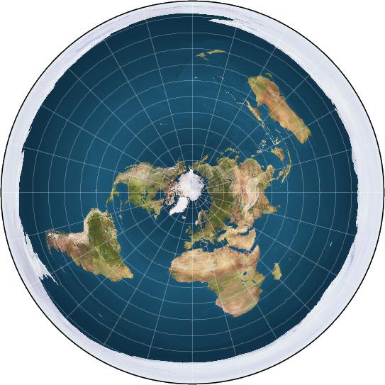 Flat/Concave/Circular/Earth/Concept.