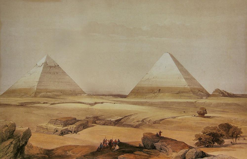 Pirámides de Guiza de David Roberts (1846)
