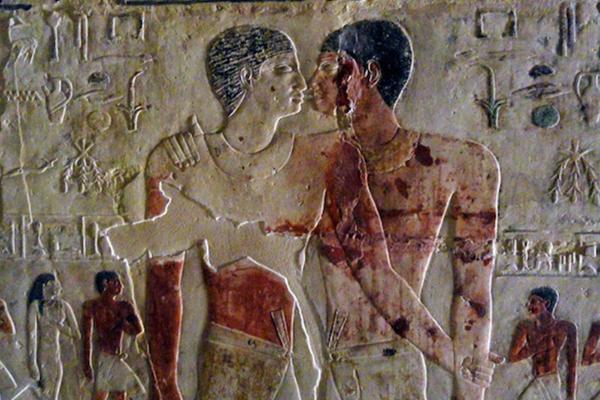 Posible pareja homosexual en un bajo relieve del Antiguo Egipto