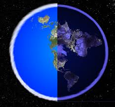 Depiction of Flat/Earth, day/night..