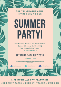 Tollemache Arms Summer Party Leaflet