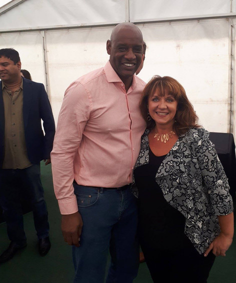 With chaser Shaun Wallace