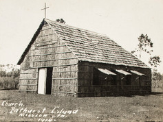 """""""Seven years of work swept away"""": This week marks a century since Bathurst Island bore the brunt of a little-known cyclone, almost completely wiping out the mission station established just eight years earlier by well-known bishop Father Gsell. Forming near Wyndham, WA, the cyclone dumped 440mm of rain in just 40 hours and caused a five-metre storm surge, described dramatically in the papers at the time as a 'frightful tidal wave'. The nuns sheltered in their convent as the roof blew off and Father Gsell was saved from being swept out to sea by some brave locals. By the following morning, nearly all the mission buildings (including the remarkable bark church pictured here a few years earlier) were """"flat on the ground"""" or washed out to sea. Help arrived soon after in the shape of some tradesmen from Darwin, a two-tonne order of flour, plus some donations from Sydney, and reconstruction began.  3 March 2019  Image: Northern Territory Library"""