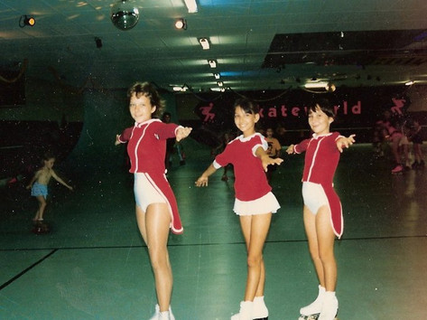 "If Skateworld had survived, it would have just turned 40. When it was opened in 1979 by Chief Minister Paul Everingham it was the only rink in the Northern Territory and was an instant hit, attracting 2000 people in its first two days. It became well known for its Friday night disco, and even featured an annual Christmas performance, like this one featuring Simone Veneman, Cristal Chovenac and Renee Barclay. When it closed in July 2006, owner Peter Beesley said ""I have seen two to three generations of children grow up here"".  2 June 2019  Image: Lorna Barclay via Facebook"