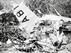 """Tragedy struck in Katherine 80 years ago this week, when the Darwin to Adelaide mail plane crashed after takeoff straight into the Katherine River. The 12-seater plane, a Lockheed Super Electra, failed to clear trees near the Katherine aerodrome and plummeted into the Katherine River. It was just two years after New Guinea Airways had started the mail run, three times each week. The crew of four experienced aviators, Captain Jukes, Captain Clarke, Peter Donegan and Alexander McDonald were killed instantly. Their bodies were retrieved by the flying doctor, Dr Fenton, and nursing staff from the Katherine Hospital. It was reported in the Northern Standard that """"it is doubtful if Australian aviation could have lost four finer and more likeable men"""". With them was 800 pounds of mail in 23 bags bound for Melbourne, Adelaide, Perth and Tasmania stored in the nose of the plane, which was salvaged from rising floodwaters.  27 January 2019  Image: Ivan R. Hodder Collection, Northern Territory Library"""