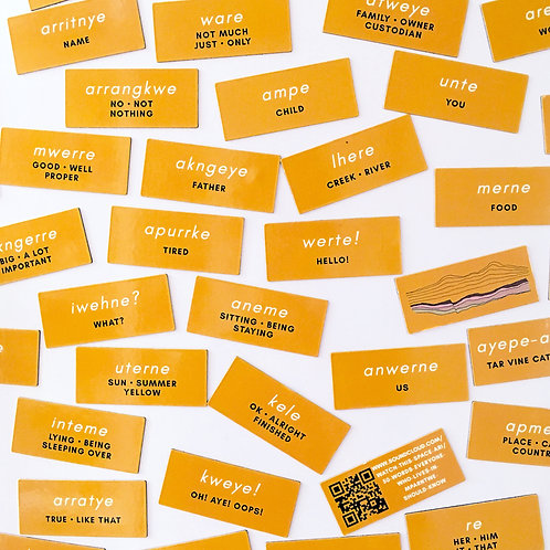 Fifty Words Fridge Magnets