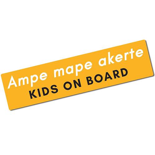 Ampe mape akerte Sticker