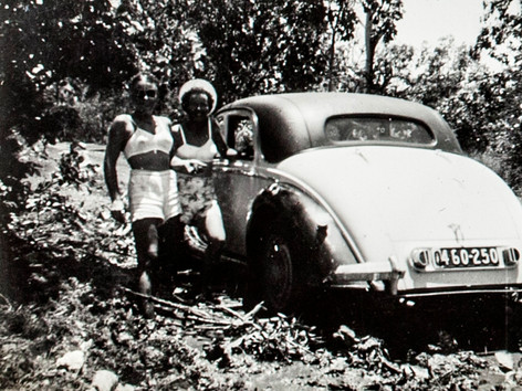 Sometimes Territorians have to travel a long way for a party. But as the wise saying goes, if you focus on the journey not the destination, you can find happiness in difficult circumstances. These two have the right idea. We're not sure who they are, but this photo is in the Library's collection with a note on the back that says they were bogged most of New Year's Eve 1950 on the Elsey Station Road. Hope your New Year's celebrations go well and you get there and back safely.  30 December 2018  Image: Northern Territory Library