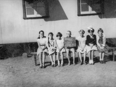 It's back to the classroom for Territory kids this week. And it would have been pretty tricky to wag a day or two if you were in this class. Luckily they look like a pretty committed bunch. This was the full enrolment for Year 5 in Tennant Creek in 1954 under the care of headmaster Mr Ashenden. Facebook sleuths managed to identify all the students (now in their seventies!) as: Katherine MacLean, Ann-Marie Stokes, Heather Campbell, Dean Pilgrim, Bonnie Hunter, Clare Harris and Elizabeth Wade.  3 February 2019   Image: Bonnie Thompson, Tennant Creek Friends Facebook Group