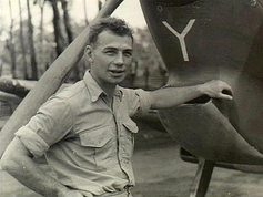 This week marks 75 years since the last raid on Darwin by the Japanese during World War II. It turned out to be a defining moment for Spitfire pilot Jack Smithson. In the dark before dawn on 12 November 1943, nine enemy aircraft struck Darwin, causing minor damage across the town. Smithson found, chased and shot down two, achieving the only 'double night victory' in the defence of Northern Australia. For that feat he was later awarded the Distinguished Flying Cross and went on to fly for Qantas after the war.  18 November 2018  Picture: Australian War Memorial, 016412