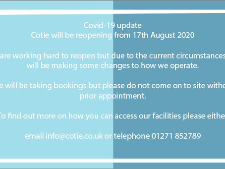 We are opening 17th August 2020
