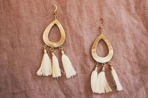 Ugandan Horn Earrings