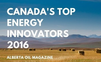 Alberta landscape image with text overlaid: Canada's Top Energy Innovators 2016 - Alberta Oil Magazine