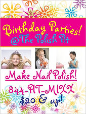 Flier for Birthday Parties at The Polish