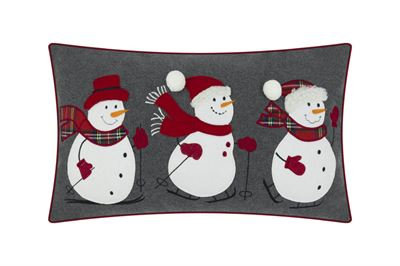 Snowies Embroidered Cushion