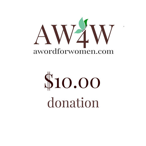 A $10 gift to A WORD for Women