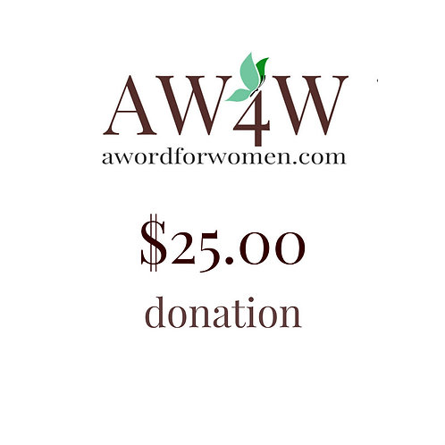 A $25 gift to A WORD for Women