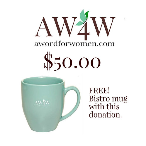 A $50 gift to A WORD for Women