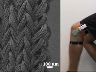 Fibra de nanotubo funciona como músculo eletromecânico