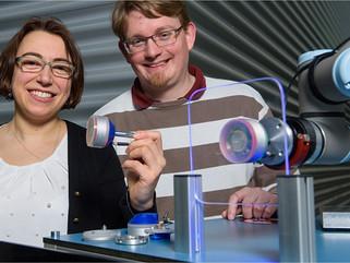 Garra robótica a vácuo funciona sem ar-comprimido