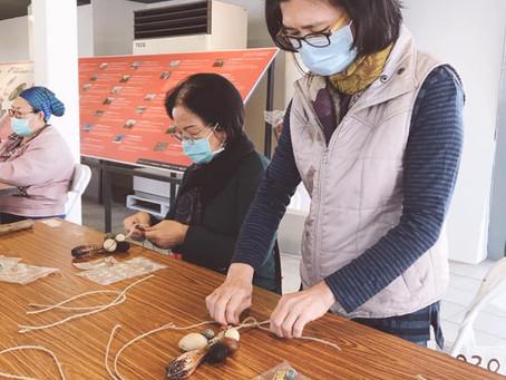 來玩落山風-種子編織與提袋拓印染