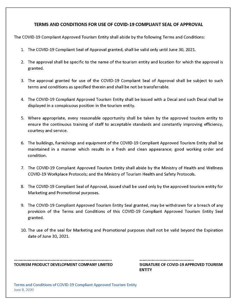 Terms and Conditions for Use of COVID-19