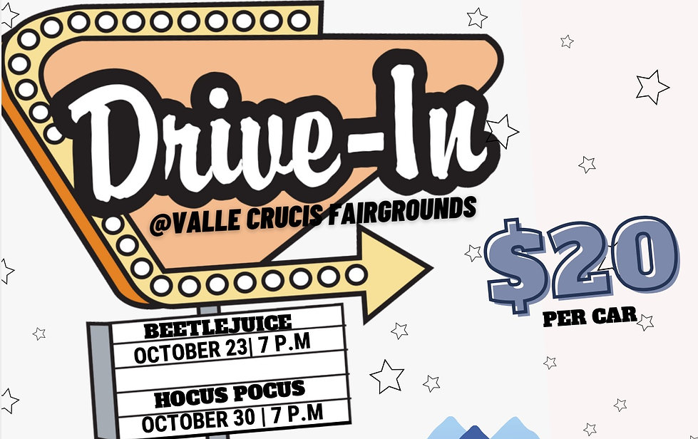 Drive in at Valle Crucis Fairgrounds